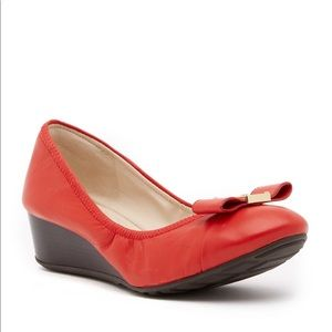 Cole Haan Emory Bow Wedge Heels